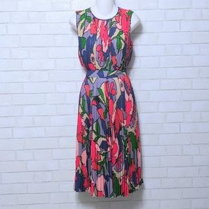 Catherine Malandrino Retro Floral Pleat Dress 2